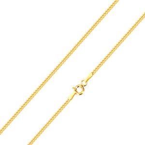 Błyszczący łańcuszek z 14K złota, linia przekątnie połączonych oczek, 500 mm