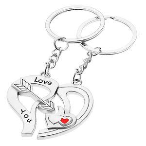 Breloczki dla zakochanych - dwie połówki serca, strzała, serduszka