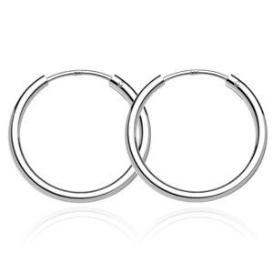 Kolczyki srebrne 925 - gładkie lśniące kółka, 22 mm