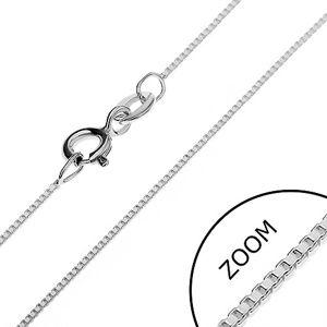 Łańcuszek srebrny 925 - prostopadle połączone puste kostki, 0,7 mm