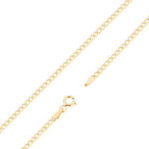 Łańcuszek z żółtego 14K złota - płaskie elipsowe ogniwa, 500 mm