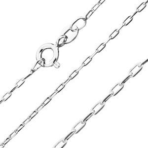 Łańcuszek ze srebra 925 - gładkie prostokąty, 1,4 mm