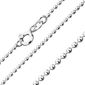 Łańcuszek ze srebra 925, kuleczki wojskowe, 1,5 mm