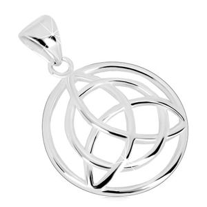 Przywieszka ze srebra 925 - okrąg z celtyckim symbolem Triquetra