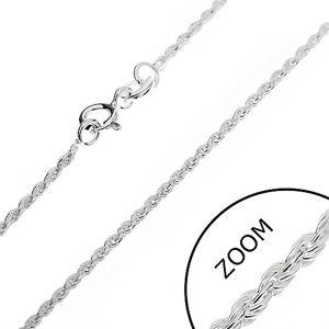 Srebrny łańcuszek 925 - ścięta spirala, 1,5 mm