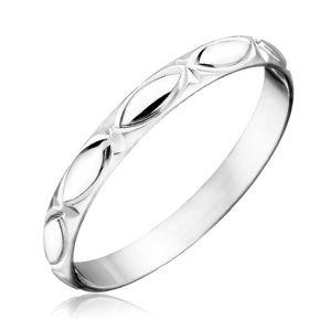 Srebrny pierścionek 925 - kontury łezek i promienie - Rozmiar : 50