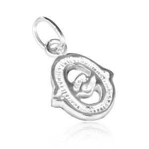 Wisiorek ze srebra 925 - ozdobna litera O